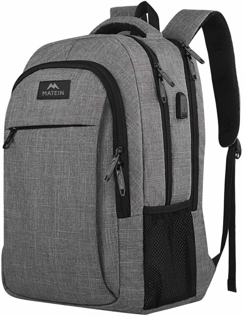 Travel laptop backpack men