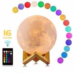 LED moon lamp present
