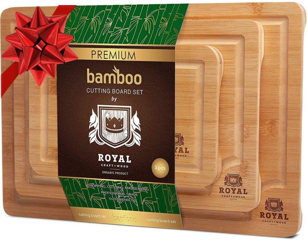 bamboo woodcutting set