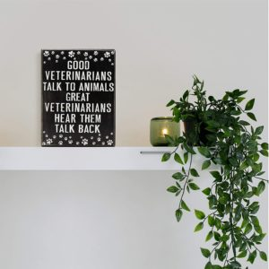 wall decor as vet student gift